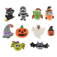 10pcs Halloween Flatback Resin Cabochon Embellishment Hair Bow Center Crafts