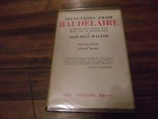 Selections from Baudelaire, trans Alan Hull Walton, HC 1st edition