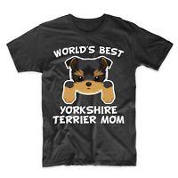 Yorkie Mom Shirt - World's Best Yorkshire Terrier Mom Dog Owner T-Shirt