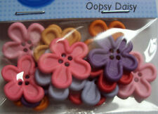 Flower Buttons Colour Options Pack Of 10 16.5mm//26 Ligne