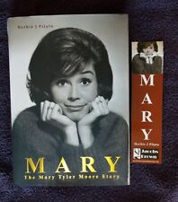 MARY TYLER MOORE - MARY  HARDCOVER BOOK  W/ BOOK MARKER -  AUTOGRAPHED !