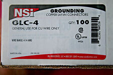 NSI GLC-4 - COPPER LAY-IN CONNECTOR 4-14 AWG; NEW BOX of 100;  FREE SHIP