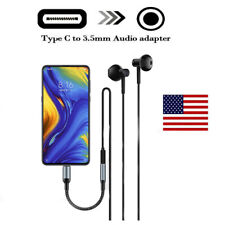 Type C to 3.5mm Aux Audio Earphone Adapter Cable For S8 S8+ S9 S9+ Note 10 10+