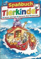 Spaßbuch + Tierkinder + Malvorlagen + Malen + Spannende Rätsel + Spiel & Spaß
