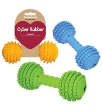 Rosewood Cyber Rubber Dumbbell Large Dog Toy | Dental Flexible Chew Tough