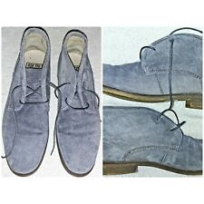 ASK THE MISSUS SUEDE LEATHER CHUKKA DESERT BOOTS GREY SZ 42 UK 8 EXC CONDITION