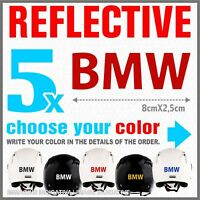 5x Red Reflective BMW R1200 1150 F800 F650 F700 GS A STICKERS ADESIVI PEGATINA