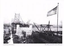 "*Postcard-""Camden Approach...w/U.S. Flag"" *Benjamin Franklin Bridge (#260)"