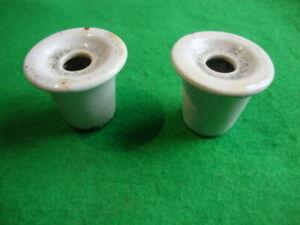 2 x vintage school desk type ceramic ink wells
