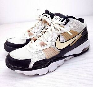 Nike 2010 386484-112 Trainer SC Flywire Men's White Black Gold Size US 8.5 Shoes
