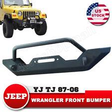 Front Bumper Bull Bar w/ Winch Plate Heavy Duty for 87-06 Jeep Wrangler YJ TJ