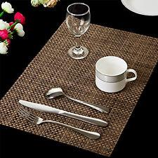 4X PVC Dining Placemats Environmental pads Mat Heat Insulation Bowl Mat AuSeller