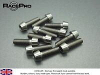 RacePro - 4x Titanium  Tapered Socket Bolt Allen - M7 x 29mm x 1mm - Natural