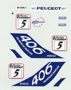 decals BTCC 1/43 - Peugeot 406 #5 1996  HARVEY