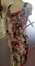 Patrizia Dini   Damen Kleid Stretchkleid  Shirtkleid  Perlen  Cut Out Gr.34  Neu