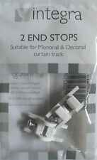 Decorail Monorail End Stop plastic curtain track or rail pk 2 end stops Integra