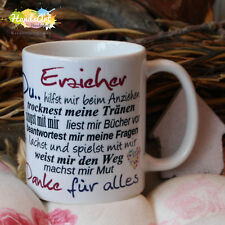 Tasse / Erzieher, Du...ich / Geschenk KITA Kindergarten Weihnachten Dankeschön
