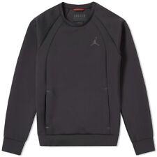 Nike Size Large Jordan Flight Tech Crew Jumper Sweatshirt Black 879495-010