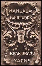 Bear Brand Manual #7 c.1904 - HUGE Vintage Pattern Book for Knitting & Crochet