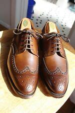 Paul Stuart x Crockett and Jones Brand New Brown Wingtip Bluchers 9E
