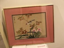 2 ORIGINAL ASIAN FINE ART CHINESE WATERCOLOR PAINTING- flower& birds