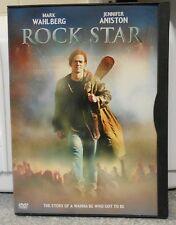 Rock Star (DVD 2002) RARE MUSIC DRAMA MARK WAHLBERG  JENNIFER ANISTON MINT DISC