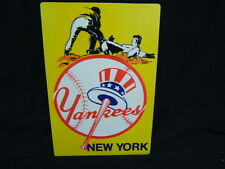 """Circa 1970 New York Yankees Mini Poster """"Your Out!""""  VGC f/s"""