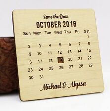 Rustic Wedding Save the Date Wooden Magnet 20 Custom Engraved Wooden-xKA