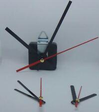 Quarz-Uhrwerk mit 3 Metall-Zeigersätzen, lautlos, schleichend ohne Ticken