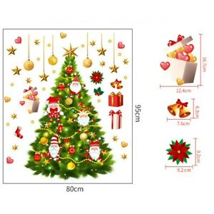 Removable Merry Christmas Tree Wall Sticker Decals Room Home Office Xmas Decor