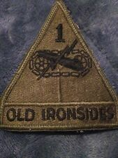 Old Ironsides 1 Green Navy Army Patch Sew On  4 Inches