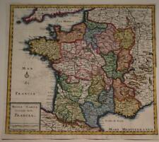 FRANCE KINGDOM OF FRANCE 1745 ISAAK TIRION ANTIQUE ORIGINAL COPPER ENGRAVED MAP