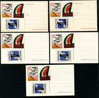 Italy Stamps Rare 1930 Lot of 5 Airplane Postcards w/ 3 Early Labels