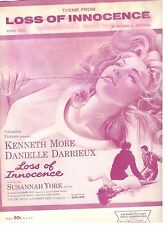 THEME FROM-LOSS OF INNOCENCE-PIANO SOLO SHEET MUSIC-MORE/YORK/DARRIEUX-RARE-NEW!