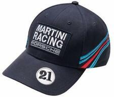 New Genuine Porsche Baseball Golf Cap Hat MARTINI RACING w/ Badges Hat Dark Blue