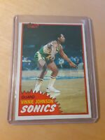 1981/82 Topps #99 West VINNIE JOHNSON Seattle Supersonics Basketball Card, Guard