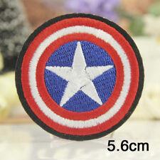 Toppa Termoadesiva Capitan America Captain Logo Patch Tessuti ricamata