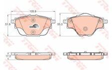 4x TRW Pastillas de Freno Traseras GDB2034