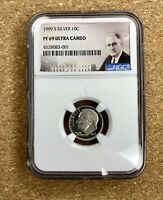 1999-S SILVER ROOSEVELT DIME 10C NGC PF69 ULTRA CAMEO Proof