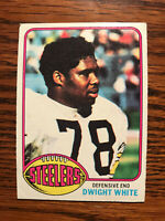 1976 Topps #365 Dwight White Football Card Pittsburgh Steelers Raw