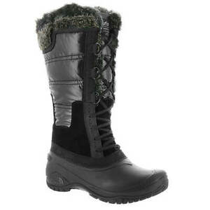 Womens North Face Shellista II Tall Boots New, TNF Black Plum Kitten Grey