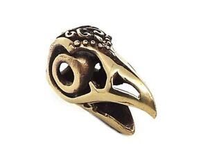 Bronze Raven Viking Celtic Beard Bead Ring - Pagan dreadlock hair