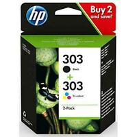 Original HP 303 Black & Colour Ink Cartridges Combo Pack 3YM92AE 7830 7130 6220