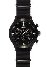 MWC MIL-TEC MKIV PVD Stainless Steel Military Pilots Chronograph NEW BOX