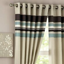 "Curtina Harvard Duckegg Eyelet Cotton Rich Curtains 46""x72"" drop Save ££'s"