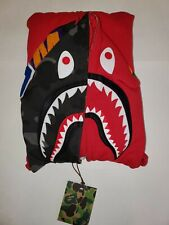 100% Authentic Bape Shark Hoodie Full Zip - Red/ Black Camo Size XLarge New