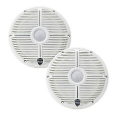 """Wet Sounds REVO8-XWW 8"""" 2-Way Marine Audio Coaxial Speakers w/ LED - White NEW"""