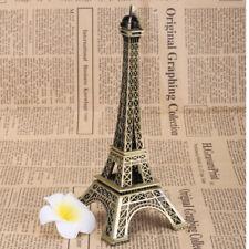 Bronze Tone Eiffel Tower Figurine Statue Metal Crafts Vintage Decoration