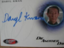 James Bond Autographs/Relics Skyfall A232 Daryl Kwan as General Han