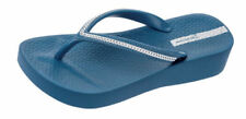Calzado de mujer sandalias con plataforma azules de goma